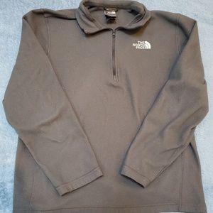 The North Face Grey Gray Fleece Zipper Pullover